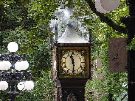 Steam Clock, Vancouver, Clock
