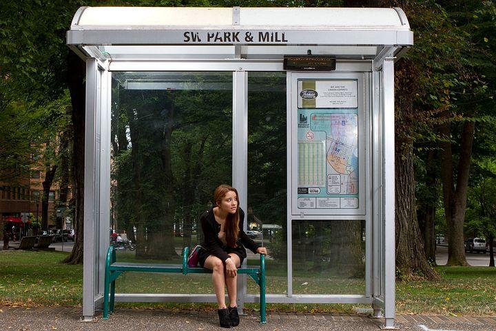 Bus Stop, Waiting, Bus, Public Transport, Stop, Urban