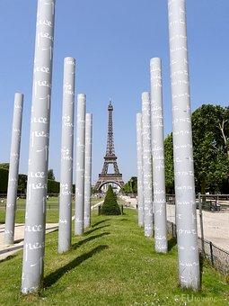 Paris, France, Peace, Wall For Peace, Eiffel Tower