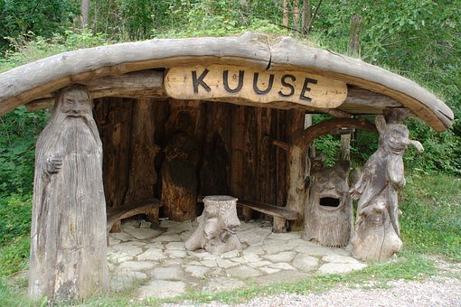 Estonia, Saaremaa, Bus Stop, Waqar