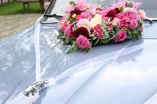 Wedding, Jaguar, Wedding Car, Auto, Bridal Car