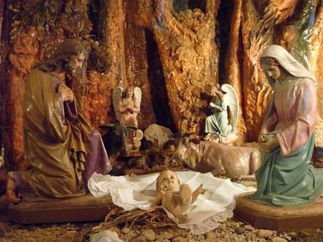 Crib, Christmas Time, Mallorca, Advent, Nativity Scene