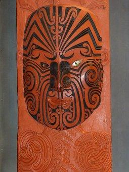 Maori, Rotorua, Mask, New Zealand, North Island, Art