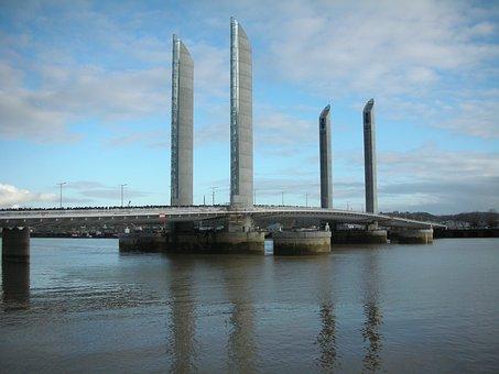 Bridge Chaban Delmas, Bordeaux, River, Architecture