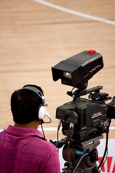 Cameraman, Videographer, Headphones, Man, Camera