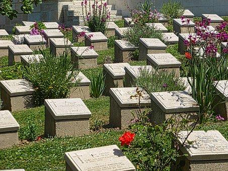 Cemetery, Headstones, Graves, War Memorial, Monuments