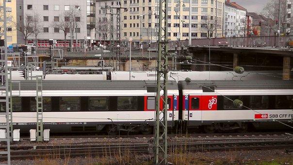 Mainz, Central Station, Wagon, Train, Station