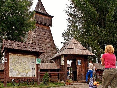Church, Dębno, Malopolska, Wooden, Trail, Architecture