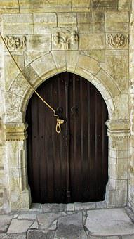 Cyprus, Tersefanou, Door, Wooden, Church, Old