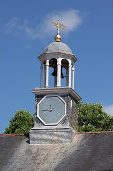 Turret, Columnar, About, Clock, Octagonal, Pointer