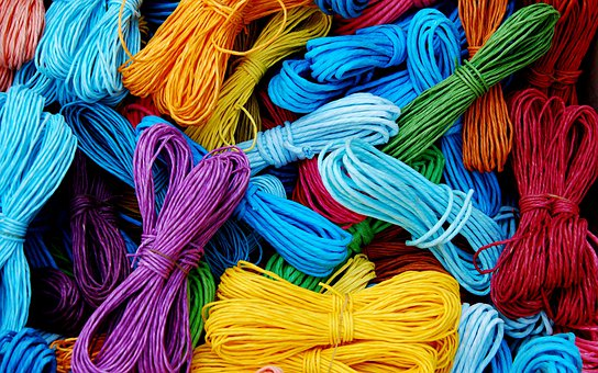 Cords, Packthread, Strings, Colors, Rope, Fiber, Twine