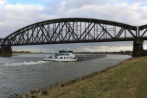 Railway Bridge, Truss Bridge, Bridge, Rhine, Duisburg