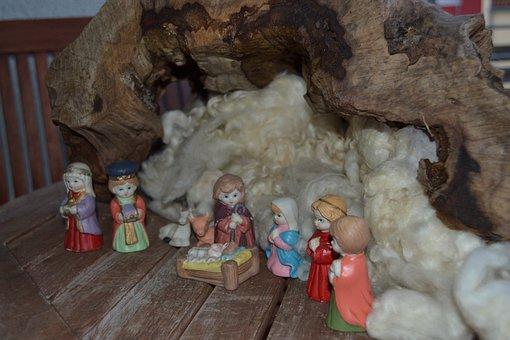 Nativity Scene, Figures, Advent, Stall, Joseph, Maria
