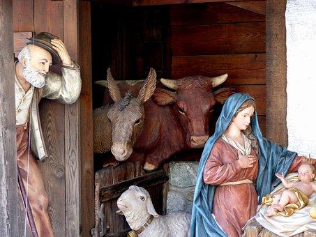 Village Nativity, Crib, Figures, Uttendorf, Christmas