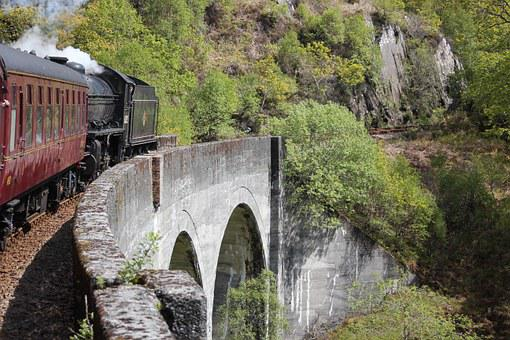 Train, Aqueduct, Jacobite Steam Train, Hogwarts Express