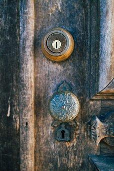 Doorknob, Door, Lock, Keyhole, Door Handle, Brass