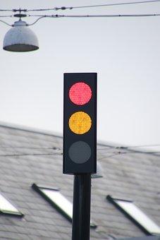 Traffic Lights, Signal Lights, Light, Red, Yellow