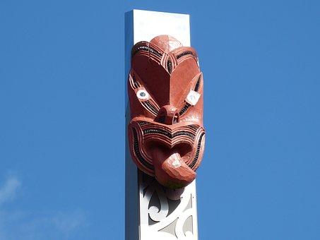 Mask, Culture, Maori, New Zealand, Rotorua