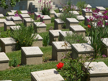 Cemetery, Headstones, Graves, War Memorial, Monuments