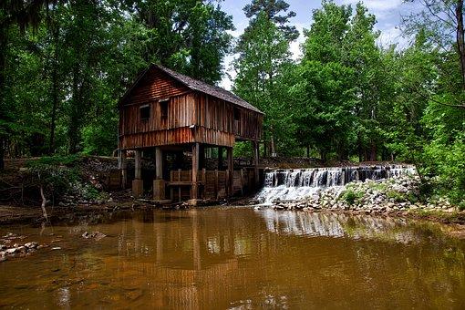 Alabama, Rikard's Mill, Structure, Wooden, Dam