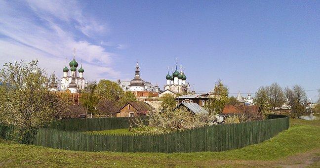 Russia, Rus, City, Rostov, Church, Architecture