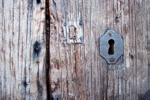 Key, Key Patch, Old Port, Entry, Door, Rust, Keyhole