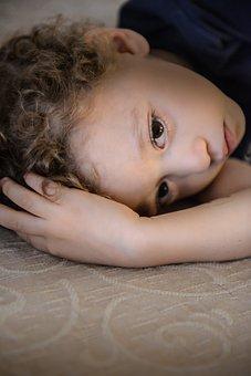 Boy, Child, Sad, Frizzy, Sleepy, Person