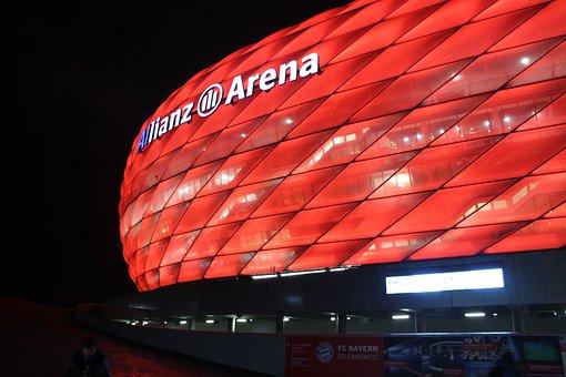 Arena, Stadium, Red, Allianz