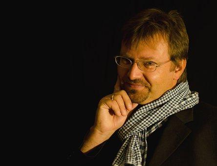Andreas Gruber, Writer, Austria, Portrait, Studio