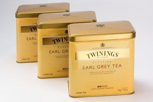 Earl Gray, Tee, Tea Tins, Black Tea, Twinings Of London