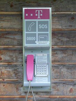 Phone, Phone Booth, Telephone Handset, Pink, Call
