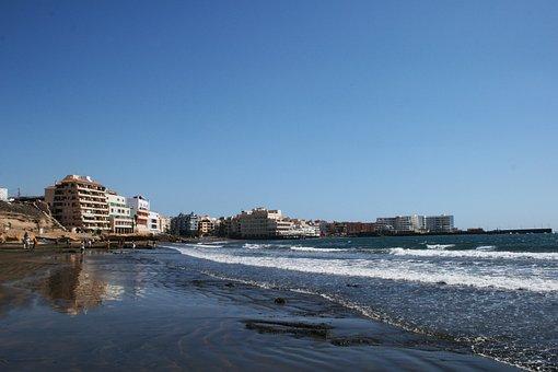 Tenerife, El Medano, Beach, Summer