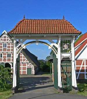 Goal, Driveway, Truss, Old Country, Architecture