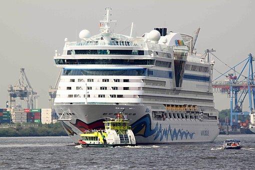 Aida, Ship, Driving Cruise Ship, Sea, Holiday, Water