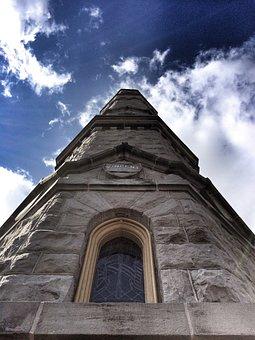 Battlefield Monument, Battlefield, Window, Sky, Clouds