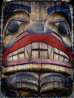 Totem Pole, Grunge, Wooden Pole, Native Art, Symbol