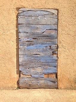 Wooden French Door, Blue, Architecture, Facade, Wood