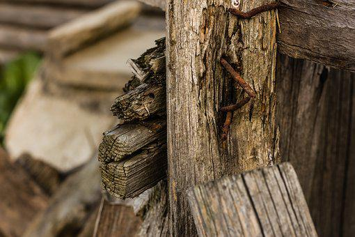 Wood, Splinter, Nail, Atmosphere, Architecture