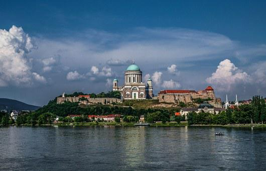 Esztergom, Basilica, Sky, Castle, Hdr, Downtown, City