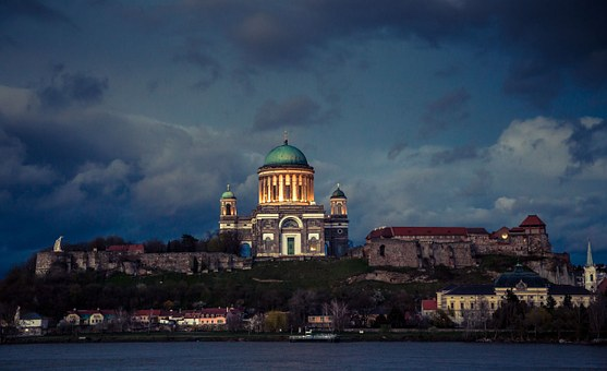 Esztergom, Cornice, Bridge, Basilica, Cathedral, Castle
