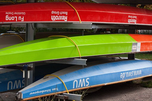 Boats, Colorful, Red, Green, Blue, Dragon Boats