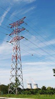 High Voltage, Post, Pylon, Cables, Electricity, Energy