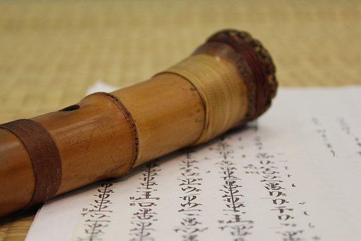 Japanese Flute, Character, Bamboo, Mat, Music, Tool