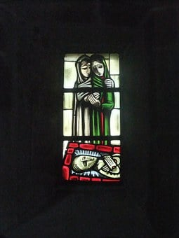 Church Window, Good Friday, Mourning, Jesus, Passion