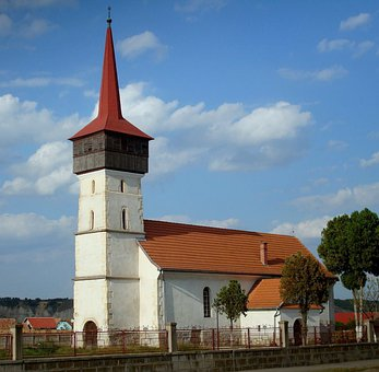 Church, Calvinist Reformed, Architecture, Sky, Clouds