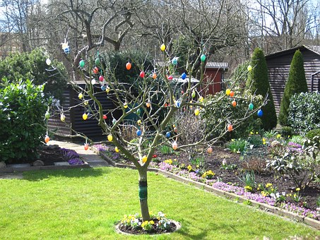 Easter In The Allotment, Easter Eggs In The Tree