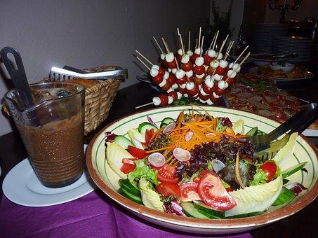 Salad, Bowl, Brunch, Tomatoes-mozzarella Sticks, Eat