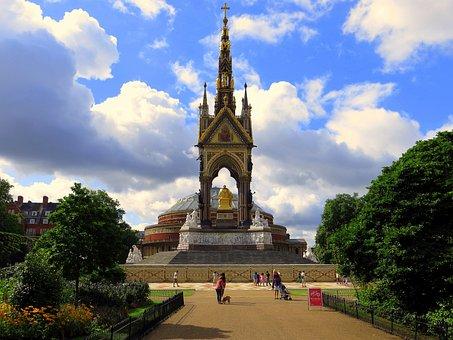 Albert, Royal, Memorial, Architecture, England, Uk