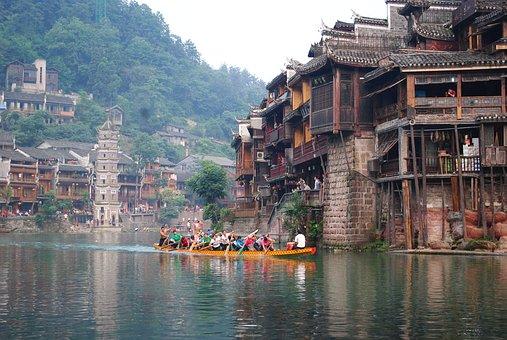 Tourism, Hunan, History, China, Fenghuang, Dragon Boat