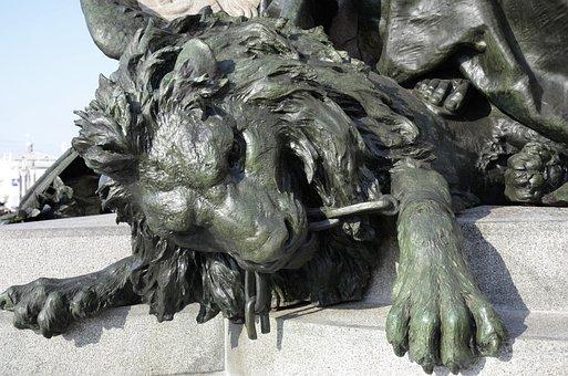 Lion, Fountain, Statue, Venice, Lion Head, Fig